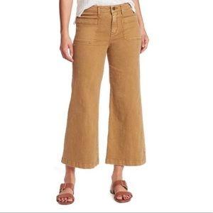 Sanctuary Denim Bronzer Wide Leg Cropped Pants NWT